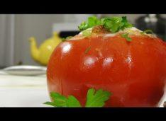 Помидор запеченный с яйцом — Кулинарные видео рецепты