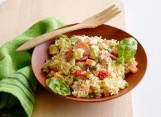 Салат из макарон для детей